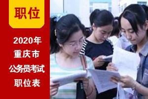 2020年重慶市考招錄職位表